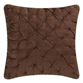 Amison Pintuck Tailored Pillow Chocolate 18 Square