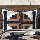 Colorado Cabin Quilted Sham Multi Warm Standard