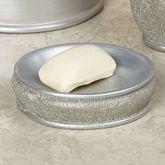 Glimmer Soap Dish Silver Gray