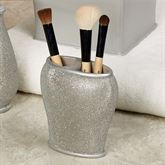 Glimmer Brush Holder Silver Gray