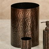 Pressed Metal Wastebasket Oil Rubbed Bronze