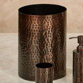 Pressed Metal Wastebasket Oil Rubbed Bronze