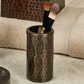 Pressed Metal Brush Holder Oil Rubbed Bronze