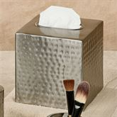 Pressed Metal Tissue Cover Silver