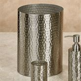 Pressed Metal Wastebasket Silver
