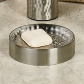 Pressed Metal Soap Dish Silver