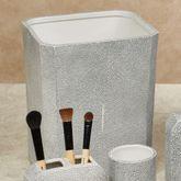 Shagreen Wastebasket Gray