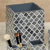 Marrakesh Lattice Wastebasket Gray