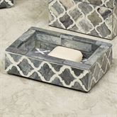 Marrakesh Lattice Soap Dish Gray