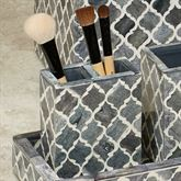 Marrakesh Lattice Brush Holder Gray