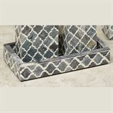 Marrakesh Lattice Vanity Tray Gray