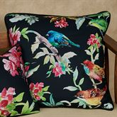 Bird Song Pillow Black 18 Square