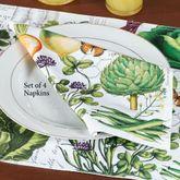 Vegetable Kingdom Napkins Multi Warm Set of Four