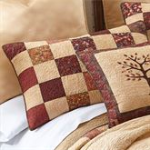 Autumn Tree of Life Quilted Sham Multi Warm Standard