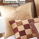 Autumn Tree of Life Piped Sham Multi Warm European