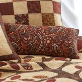 Autumn Tree of Life Piped Pillow Multi Warm Rectangle