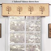 Autumn Tree of Life Quilted Tailored Valance Multi Warm 60 x 15