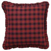 Cumberland Ruffled Pillow Multi Warm 18 Square