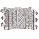 Bel Air Reversible Tailored Pillow Silver Rectangle