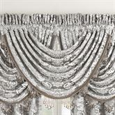 Bel Air Waterfall Valance Silver 42 x 40