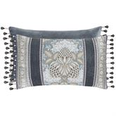 Crystal Palace Reversible Tailored Pillow French Blue Rectangle