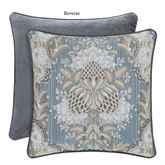 Crystal Palace Reversible Piped Pillow French Blue 18 Square