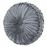 Crystal Palace Tufted Pillow French Blue Round