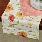 Poppies Floral Table Runner Multi Warm 14 x 72