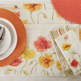 Poppies Floral Placemats Multi Warm Set of Four