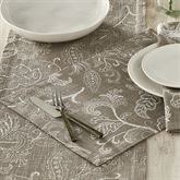 Stitches Placemats Taupe Set of Four