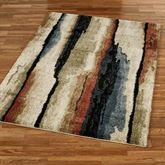 Rock Cliff Rectangle Rug Multi Earth