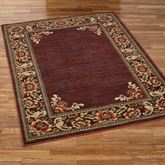 Florian Border Rectangle Rug Cordovan