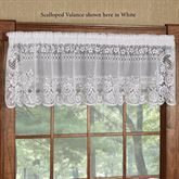 Victorian Lace Scalloped Valance 60 x 16
