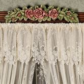 Graceful Rose Lace Insert Valance 60 x 17
