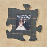 Weathered Black Photo Frame Puzzle Piece