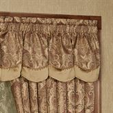 Devonshire Scalloped Valance Ruby 72 x 20