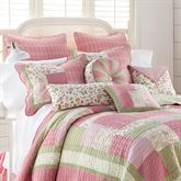 Bashful Rose Quilted European Sham Multi Bright