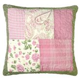 Bashful Rose Quilted Pillow Multi Bright 15 Square