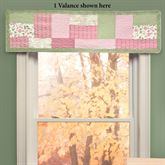 Bashful Rose Tailored Valance Multi Bright 56 x 15