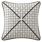 Vienna Checkered Piped Pillow Bone 16 Square