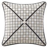 Vienna Checkered Piped Pillow Bone 16 Square
