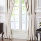 Vienna Wide Tailored Curtain Pair Bone 100 x 84