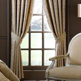Anya Wide Tailored Curtain Pair Gold 100 x 84