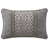 Carrick Embroidered Pillow Dark Gray Rectangle