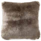 Carrick Faux Fur Tailored Pillow Light Taupe 16 Square