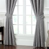 Carrick Wide Tailored Curtain Pair Dark Gray 100 x 84