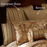 Botticelli II Reversible Corded Sham Brown European