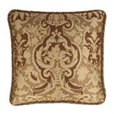 Botticelli II Corded Pillow Brown 20 Square