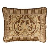 Botticelli II Framed Corded Pillow Brown Rectangle