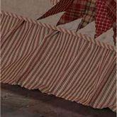 Ozark Gathered Bedskirt Beige
